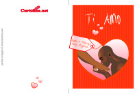 Biglietto d'amore per la Festa della Donna