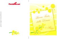 Biglietto con mimose per la Festa della Donna