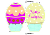 Biglietto sagomato a forma di Uovo di Pasqua