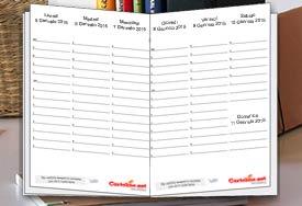 Agenda settimanale 2016 di Cartoline.net