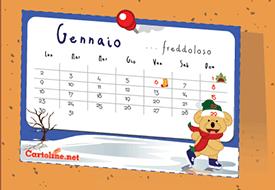 Calendario 2018 da appendere o da attaccare al frigo con la calamita gratis