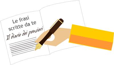 Le frasi scritte da te