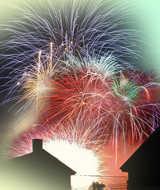 Fuochi di artificio di capodanno