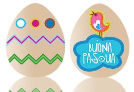 Stickers di Pasqua di Cartoline.net