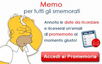 A tutti gli smemorati Cartoline.net offre l'utilissimo Promemoria!