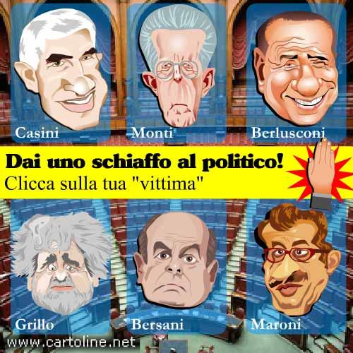 Schiaffi ai politici italiani