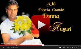 Video Auguri da George Clooney per la Festa della Donna
