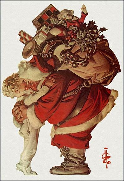 Abbraccio di Babbo Natale