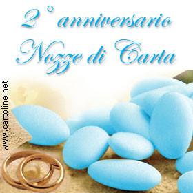 Secondo Anniversario Di Matrimonio.2 Anniversario Nozze Di Carta
