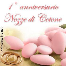 Anniversario Di Matrimonio Un Anno.Nozze Di Cotone