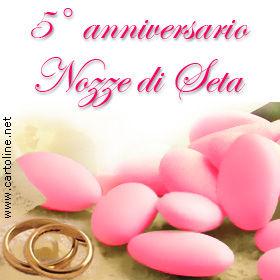 Anniversario 5 Anni Matrimonio.Auguri Per Le Nozze Di Seta