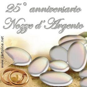 augurio 25 anno matrimonio