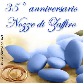 35 anniversario di matrimonio