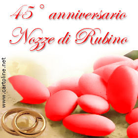 Frasi Anniversario Matrimonio 450.Nozze Di Rubino