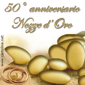 auguri per 50 anni di matrimonio