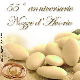 Anniversario Matrimonio 55.Nozze D Avorio