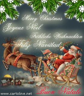 Auguri Buon Natale In Tedesco.Babbo Natale Porta Gli Auguri In Tutte Le Lingue