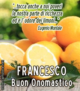 Frase Di Montale Per Lonomastico Di Francesco