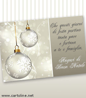 Auguri Di Natale Famiglia.Biglietto Di Auguri Natalizi Formali