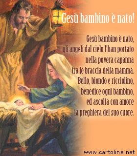 Immagini Gesu Bambino Natale.Filastrocca Natalizia Gesu Bambino E Nato