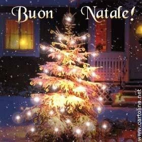 Foto Di Natale Con Auguri.Tanti Auguri Con L Albero Di Natale Illuminato