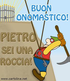 Célèbre Buon Onomastico Pietro ZJ42