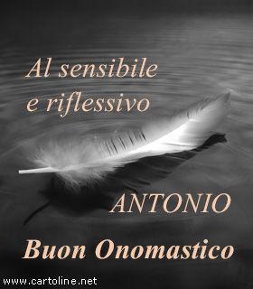 Auguri Di Onomastico Al Sensibile Antonio