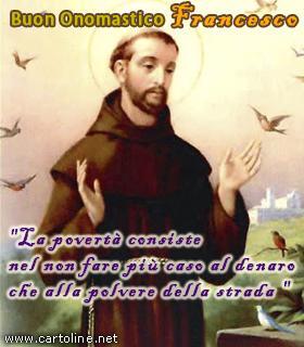 Frase Di San Francesco Per L Onomastico
