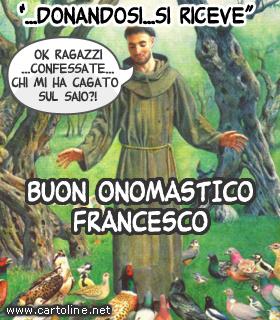 Ben noto Divertenti auguri di onomastico Francesco FF63