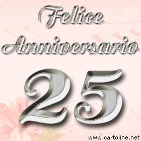Felicitazioni per le nozze d 39 argento for Frasi per anniversario matrimonio 25 anni