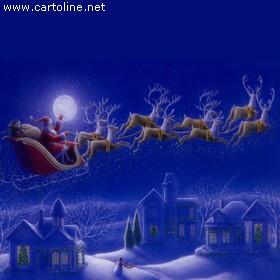 Immagini Babbo Natale Con Slitta.Slitta Di Babbo Natale Con Renne