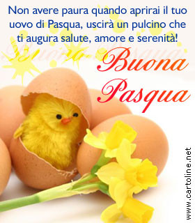 Auguri dentro l 39 uovo di pasqua for Cartoline auguri di buona pasqua