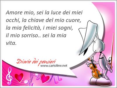 Frasi D Amore Sei La Mia Vita.Amore Mio Sei La Luce Dei Miei Occhi La Chiave Del Mio Cuo