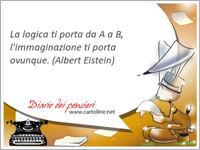La logica ti porta da A a B, l'immaginazione ti porta ovunque.